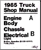 1985 Ford Truck: Bronco, F-Series & Econoline Shop Manual Volumes A & B (SKU: BISH-1100)