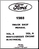 1988 Ford Truck: Bronco, F-Series & Econoline Shop Manual- Volumes A & B (SKU: BISH-1961)