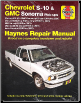 1994 - 2004 Chevrolet S10 & Sonoma Pick-up, 1995 - 2005 Blazer / GMC Jimmy & 1996 - 2001 Olds Bravada & Isuzu Hombre Haynes Repair Manual (SKU: 1620923270)