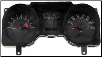2004 - 2005 Ford Mustang Instrument Cluster Repair (4.6L, 4 Gauge, 140 MPH, 8000 RPM) (SKU: 5R3310849CC)