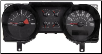 2006 - 2007 Ford Mustang Instrument Cluster Repair (4.6L, 6 Gauge, 140 MPH, 8000 RPM) (SKU: 7R3310849GC)