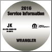 2016 Jeep Wrangler Factory Service Repair Workshop Shop Manual CD (SKU: 81-370-16063-CD)