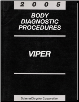 2005 Dodge Viper Body Diagnostic Procedures Manual (SKU: 8127005020)