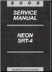 2005 Dodge Neon Service Manual (SKU: 8127005028)