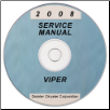 2008 Dodge Viper (ZB) Service Manual ON CD (SKU: 8127008030CD)