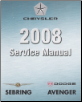 2008 Chrysler / Dodge Avenger / Cirrus / Sebring (JS) Factory Service Manual - 6 Volume Set (SKU: 8127008055)