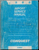 1988 Chrysler / Dodge / Plymouth Conquest Import Service Manual - 2 Volume Set (SKU: 812708015-6)