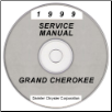 1999 Jeep Grand Cherokee Service Manual - CD Rom (SKU: 813709147CD)