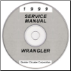 1999 Jeep Wrangler Service Manual - CD Rom (SKU: 813709148CD)