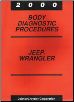 2000 Jeep Wrangler Body Diagnostic Procedures (SKU: 8169999030)