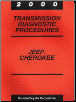 2000 Jeep Cherokee AW4 Transmission Diagnostic Procedures (SKU: 8169999035)