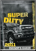 2011 Ford F250, F350, F450 & F550 Truck Factory Owner's Manual (SKU: BC3J19A321EA)