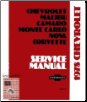 1978 Chevrolet Malibu, Camaro, Monte Carlo, Nova & Corvette Factory Shop Manual on CD-ROM (SKU: BISH-1638)