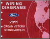 2011 Ford Crown Victoria & Mercury Grand Marquis Factory Wiring Diagrams Manual (SKU: FCS1211811)