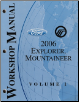2006 Ford Explorer & Mercury Mountaineer Workshop Manual - 2 Volume Set (SKU: FCS1219906-1-2)