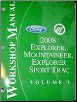 2008 Ford Explorer, Explorer Sport Trac & Mercury Mountaineer Factory Workshop Manual - 2 Vol. Set (SKU: FCS1219908-1-2)