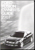 2007 Ford Fusion Owner's Guide (SKU: PM7E5J19A321AA)