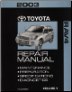 2003 Toyota RAV4 Factory Repair Manual - 2 Volume Set (SKU: RM960U1)