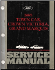 1995 Lincoln Town Car, Ford Crown Victoria, Mercury Grand Marquis Factory Service Manual (SKU: FCS1219195)