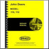 John Deere 110, 112 Lawn and garden Tractor Factory Service Manual (SKU: JD-S-SM2059)