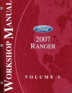 2007 ford ranger factory workshop manual 2 volume set. Black Bedroom Furniture Sets. Home Design Ideas