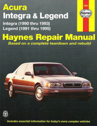 1990 Acura Legend on 1990   1995 Acura Integra   Legend Haynes Repair Manual