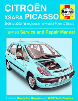 2000 2002 w 52 citroen xsara picasso petrol diesel. Black Bedroom Furniture Sets. Home Design Ideas