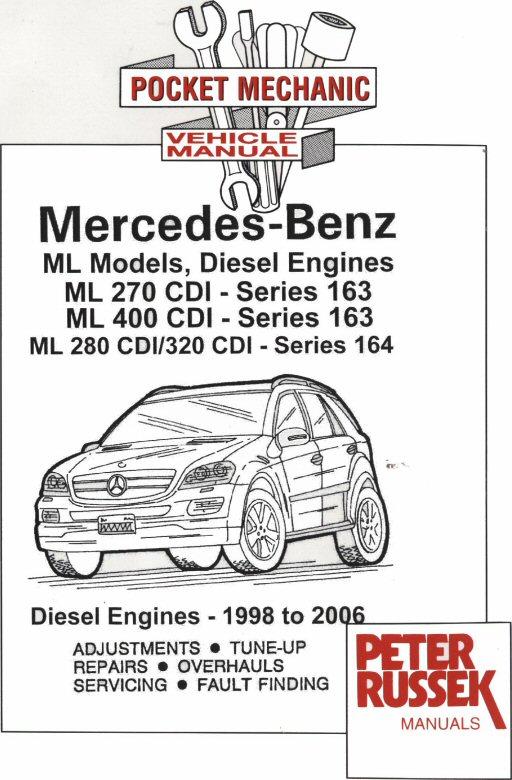 1998 2006 mercedes benz ml models diesel engines ml 270cdi ml rh autorepairmanuals biz 2014 Mercedes-Benz ML320 SUV 1998 mercedes benz ml320 repair manual