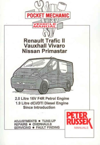 2001 2006 renault trafic ii vauxhall vivaro nissan primastar 1 9 rh autorepairmanuals biz Nissan NV300 Interior Nissan NV300 Dashbord