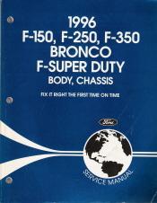 1996 ford bronco f150 f250 f350 f super duty service manual 2 rh autorepairmanuals biz 1996 ford f250 repair manual 1996 ford f250 repair manual pdf