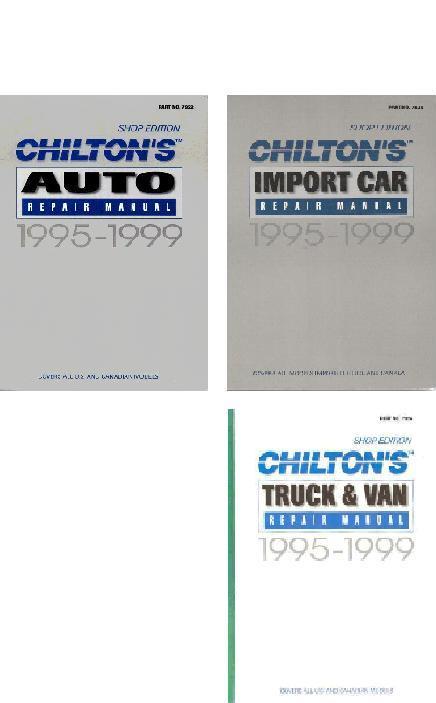 chilton service manuals