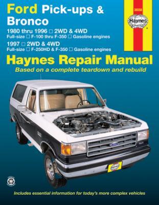 1980 1996 ford pick ups bronco haynes automotive repair manual rh autorepairmanuals biz 1995 ford bronco service manual 1996 ford bronco service manual
