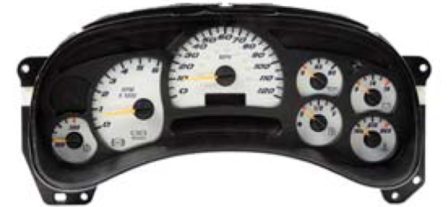 Gm 7gauge face also Chevy Silverado Gauge Cluster Repair additionally 270683974030 besides 1995 Honda Accord Gauge Cluster I506113 further 2009 Chevy Silverado 5 3 Oil Pressure. on 2009 gmc sierra gauge clusters