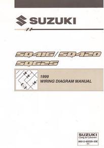 1999 suzuki sq416, sz420 & sq625 (vitara, grand vitara) factory wiring  diagrams manual