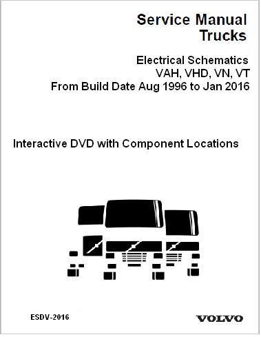 aug 1996 jan 2016 volvo vah vhd vn vt truck electrical wiring rh autorepairmanuals biz Wiring Diagrams for 2000 Volvo Semi Volvo Fan Relay Wiring Diagram