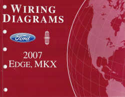 2007 ford edge lincoln mkx wiring diagrams. Black Bedroom Furniture Sets. Home Design Ideas