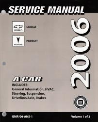 2006 chevrolet cobalt pontiac pursuit factory service manual. Black Bedroom Furniture Sets. Home Design Ideas