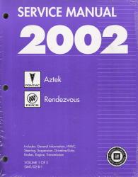 2002 pontiac aztek buick rendezvous factory service manual 2 rh autorepairmanuals biz 2007 Buick Rendezvous 2004 Buick Rendezvous