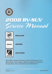 2008 buick enclave gmc acadia saturn outlook factory service manual rh autorepairmanuals biz gmc factory service manuals gmc factory service manual pdf