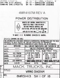 mack wiring diagram chassis series cv 2003 2004. Black Bedroom Furniture Sets. Home Design Ideas