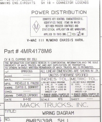 Mack Wiring Diagram Chis Series CL 2003-2004 on