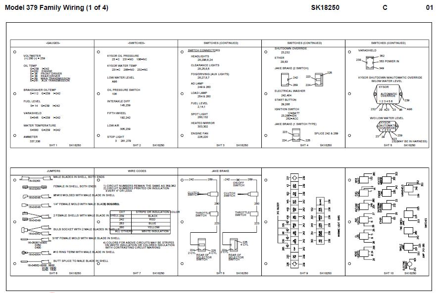 2005 Peterbilt 379 Fuse Panel Diagram