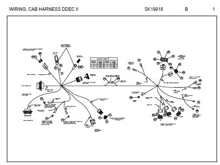 peterbilt cab harness connector schematic for models with detroit rh autorepairmanuals biz