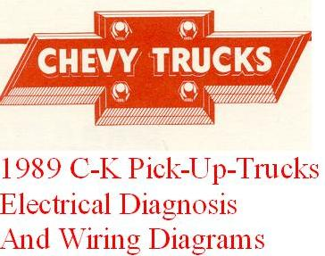 1989 chevrolet gmc c k pick up truck electrical diagnosis and wiring diagrams manual. Black Bedroom Furniture Sets. Home Design Ideas