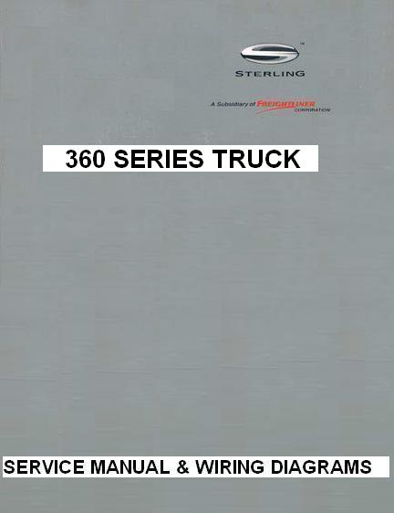 sterling 360 truck factory service manual & wiring diagrams  click to  enlarge image(s)