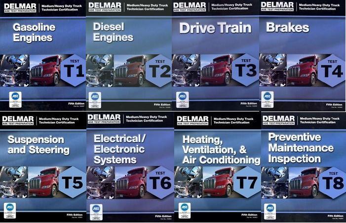 Ase Test Prep Manuals Heavy Truck T1 T8 Delmar 5th Ed