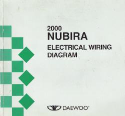 2000 daewoo nubira factory wiring diagram manual. Black Bedroom Furniture Sets. Home Design Ideas