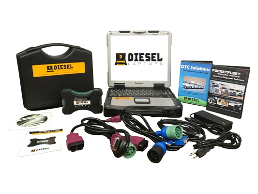 Universal Diesel Truck Diagnostic Tool & Scanner Laptop Kit