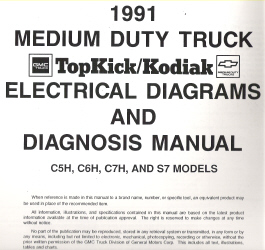 1991 GMC    TopKick   Kodiak Medium Duty Trucks C5H  C6H  C7H