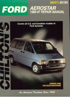 1986 1997 ford aerostar van chilton s total car care manual rh autorepairmanuals biz Used Ford Aerostar Vans 1997 Ford Aerostar Tractor